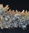 iron oxide Quartz, Galena, Chalcopyrite - floater