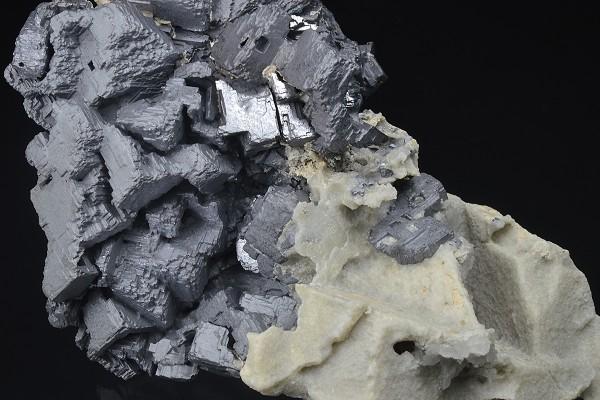 skeletal Galena, Calcite