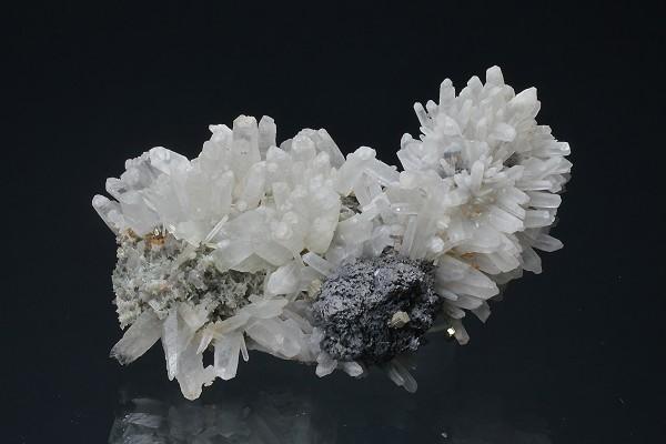 Quartz, Sphalerite, Pyrite