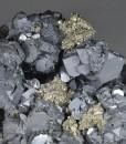 Galena, Pyrite, Sphalerite, Quartz, Chalcopyrite - floater