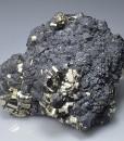 Pyrite, Galena, Sphalerite, Chalcopyrite - floater