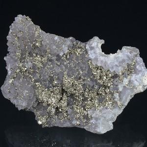 Quartz var.Amethyst, Pyrite, Calcite