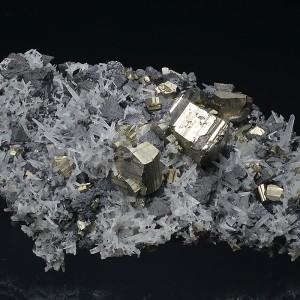 Pyrite, Quartz, Sphalerite, Chlorite - floater